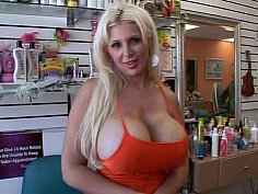 A working woman.., busty woman