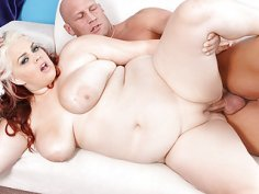 Sexy BBW Buxom Bella fucked and cum in mouth