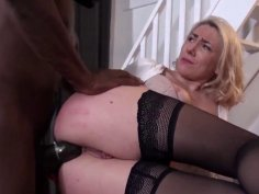 Big booty mature woman ass fucked by a BBC interracial