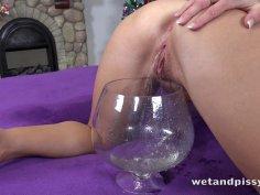 Wetting her panties makes Jenifer Jane hot and horny!