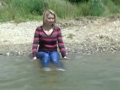 My favorite Wetlook with jeans and white socks