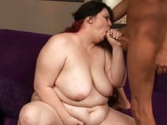 Bbw floozy fucked in all of her holes by schlong