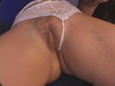 Straight haired blond head Melenka provides a dick with a deepthroat