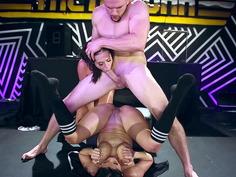 Kelsi Monroe and Diamond Kitty in a nasty atogm threesome