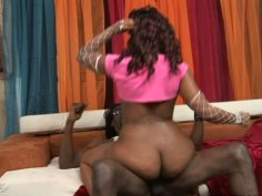 Rounded butt of Treasure Cunt gets drilled hard by a hard meat pole