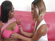 Two hot black girls down for lesbian sex