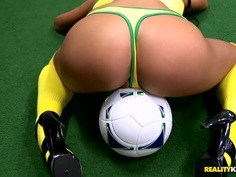 Playing with a sports milf