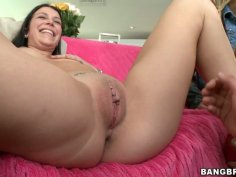 Ava Cash invites her friends and fucks them on a couch