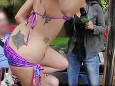 Redneck Strip Club in Public!