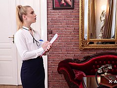 Naughty czech secretary