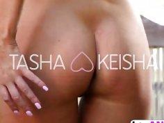 Keisha Grey Used Big Dildo And Makes Tasha Reign Cum Under Shower