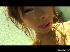 Kinky Japanese girl Serina Hayakawa getting her pussy fingerfucked