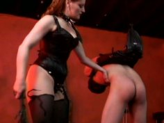 Balls weightlifting with torrid ginger mistress Gemini