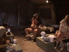 Jada Fire, Gianna Lynn, Brooke Banner serving horny soldiers