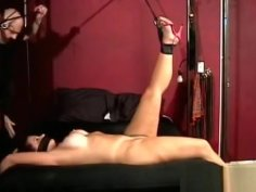 Mature Slut Gets Titillated Whilst Being Thonged Tight