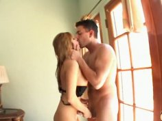 Nasty latina Sativa Rose having a romantic fuck on a bed