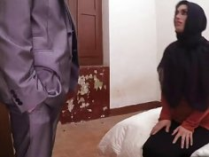Arabian beauty spreads her legs and gets banged doggystyle
