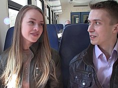 Pickup porn with girl from the train