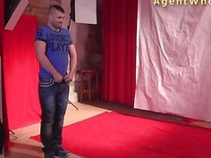First casting blowjob for horny czech amateur guy