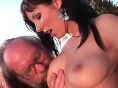 Grandpas and Sexy Teen Brunettes