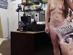 Huge cock pervert pawnshop owner banged this mature desperate babe