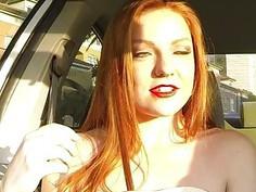 Redhead babe Farrah Flower pussy wrecked