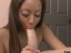 Ebony girl Angel Cummings dreams of cum load