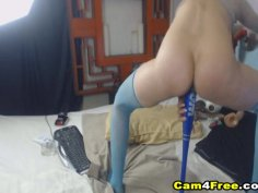 Crazy Babe Drilled Her Holes Using Different Toys