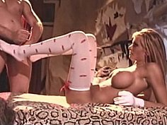 Briana Banks in white sexy stockings having sex